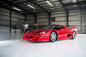 Pictures Ferrari Vintage Pininfarina Red Automobile 1995 F50 Cars