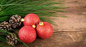 Hintergrundbilder Feiertage Neujahr Zapfen Ast Kugeln Drei 3