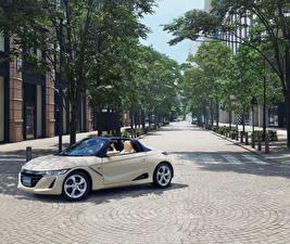Wallpapers Honda White Metallic Cabriolet 2017 S660 automobile