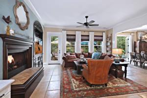 Image Interior Design Living room Carpet Fireplace