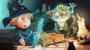Bilder Magier Hexer Magie Kerzen Der Hut Staunen Buch Magical Fail Humor