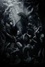 Hintergrundbilder Ungeheuer Alien: Covenant Schwarzweiss Film