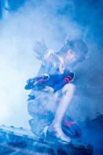Fonds d'écran Overwatch Cosplay D.Va, Hana Song Jeux Filles