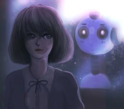 Fotos Gezeichnet Roboter Fantasy Mädchens