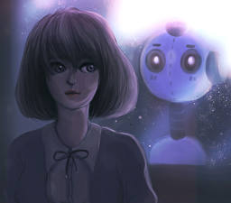Image Painting Art Robot Fantasy Girls