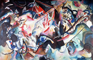 Pictures Pictorial art Abstract art Wassily Kandinsky, Composition VI
