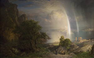 Fotos Malerei Regenbogen Frederic Edwin Church, The Aegean Sea