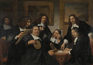 Hintergrundbilder Malerei Mann Jan de Bray, The Governors of the Haarlem Guild of St. Luke