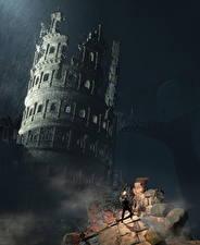 Bilder Ruinen Krieger Dark Souls 3 computerspiel Fantasy