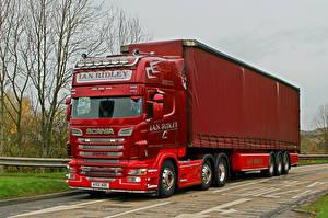 Photo Scania Trucks Red R500 V8 6 x 2 AY12AOE Cars