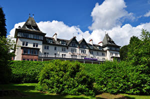 Wallpaper Scotland Houses Hotel Shrubs Strathpeffer Cities
