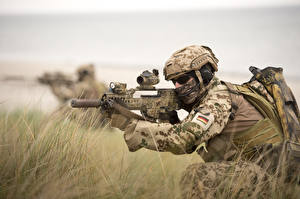 Hintergrundbilder Soldaten Sturmgewehr Spezialeinheiten Deutsch  Heer