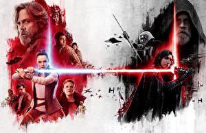 Wallpaper Star Wars: The Last Jedi Warrior Daisy Ridley Princess Leia Organa, R2-D2, Poe Dameron, Kylo Ren, Captain Phasma, Maz Kanata, Supreme Leader Snoke, General Hux, Lieutenant Connix, Rose Tico film