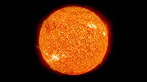 Picture Stars Closeup Sun Black background