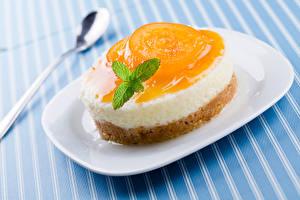Fotos Süßigkeiten Törtchen Gelee Teller Lebensmittel