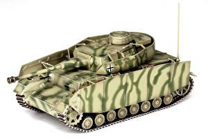 Hintergrundbilder Panzer Spielzeuge Deutsch Weißer hintergrund Pz.Kpfw.IV Ausf.H Heer