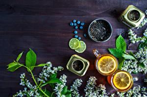 Bilder Tee Zitrone Heidelbeeren Ast Tasse Lebensmittel