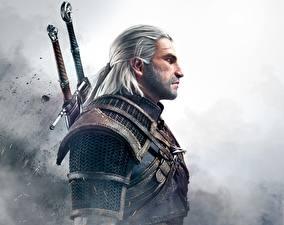 Fotos The Witcher 3: Wild Hunt Mann Geralt von Rivia Krieger Fantasy
