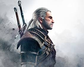 Photo The Witcher 3: Wild Hunt Men Geralt of Rivia Warriors vdeo game Fantasy