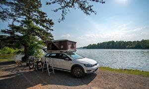 Hintergrundbilder Volkswagen Weiß 2017 Golf Alltrack Country Concept auto