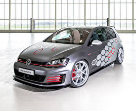 Pictures Volkswagen Tuning Gray 2016 Golf GTI  Heartbeat automobile