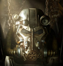 Fotos Krieger Fallout 4 Rüstung Helm Power Armor, Brotherhood of Steel Spiele Fantasy