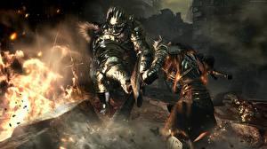 Hintergrundbilder Krieger Flamme Dark Souls III Rüstung Spiele Fantasy 3D-Grafik