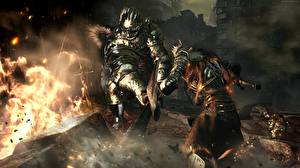 Photo Warrior Flame Dark Souls III Armor Games Fantasy 3D_Graphics