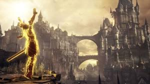 Bilder Krieger Festung Dark Souls III Spiele Fantasy 3D-Grafik