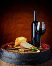 Images Wine Cheese Vegetables Cask Colored background Bottle Stemware