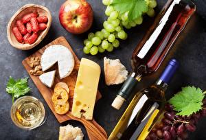 Fotos Wein Weintraube Käse