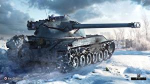 Bilder WOT Panzer Schnee  Spiele