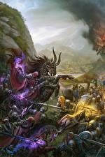 Image WoW Warrior Battles vdeo game Fantasy