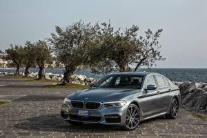 桌面壁纸,,BMW,灰色,金屬漆,2017530d xDrive Sedan M Sport Worldwide,汽车