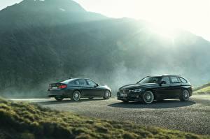 Wallpaper BMW Two Green Metallic 2017 Alpina B3 S Bi-Turbo Touring Alpina B3 S Bi-Turbo Limousine auto
