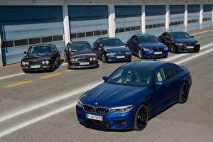 Photo BMW Many Blue 1985-2017 M5 automobile