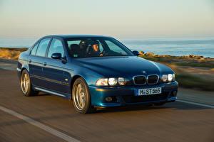 Wallpaper BMW Vintage Blue Riding 1998-2003 M5 Worldwide automobile