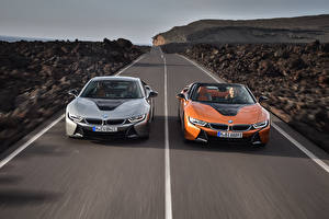 Image BMW Roads Two Driving Front 2018 i8 Cars