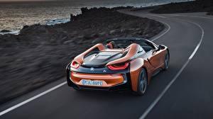 Image BMW Motion Orange Back view Roadster i8 2018 Cars