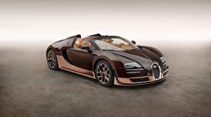 Bilder BUGATTI Braunes Metallisch Cabriolet Luxus 2014 Veyron Grand Sport Roadster Vitesse Rembrandt