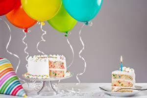 Hintergrundbilder Torte Geburtstag Luftballon Lebensmittel