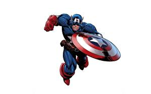 Images Captain America hero Shield White background