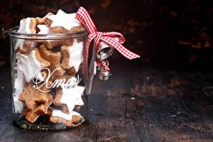 Bilder Neujahr Kekse Weckglas Schleife Lebensmittel