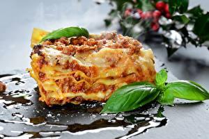 Desktop hintergrundbilder Nahaufnahme Lasagne das Essen