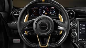 Hintergrundbilder Nahaufnahme McLaren Lenkrad Limited Edition Grey Gold 720S Autos