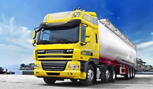 Wallpaper Lorry DAF Trucks Yellow  Cars