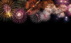 Pictures Fireworks Black background