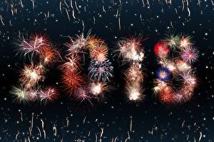Wallpapers Fireworks Christmas 2018
