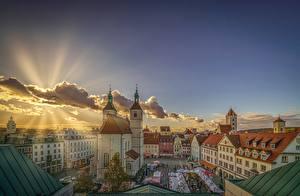 Hintergrundbilder Deutschland Gebäude Himmel Lichtstrahl Bayern Regensburg Städte