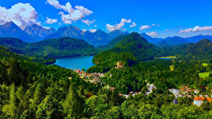 Pictures Germany Landscape photography Mountains Rivers Forests Bavaria Schwangau Nature